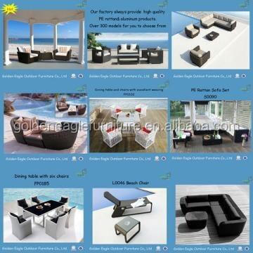 UV-resistant dining set rattan outdoor furniture