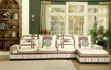 MD806 fashion modern luxury Lshape Italian velvet linen fabric couch furniture modern big size sofa with cushions