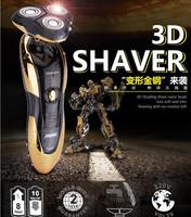 Portable Electric Shaver Rotating 360 Degree Waterproof Razor 3D Men Beard Trimmer