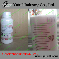 Insecticide acaricide 240g/l SC 36% SC 10% SC 95% TC ffcient ,safe and broad-spectrum of new insecticide Chlorfenapyr