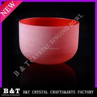 2015 alibaba website Wholesale Quartz Crystal Handmade 16'' Red Perfect Healing Musical Instrument Singing bowl BNTS-026
