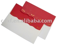 envelope with gold stamping