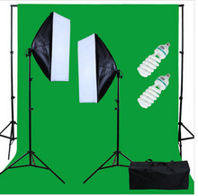 NEW PHOTOGRAPHIC EQUIPMENT Studio 150W Continuous Lighting kit with 3x6m Green backdrop - Whole/Retail AKT063