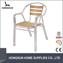 Piato arm cast aluminum wooden garden chair