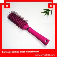 Purple color vent hair brush plastic hair brush women brush