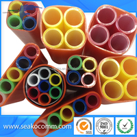 China supplier HDPE Microduct for air blowing fiber,Red Color, low friction micro duct