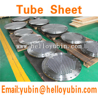 Forging alloy steel 4140 tube sheet/baffle plate/support plate for heat exchanger