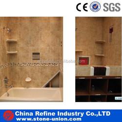 beige travertine bathroom wall pavers