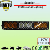Wholesale amber light bar with wireless remote control 90w 12v headlight for offroad