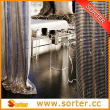 home decoration / window and shower curtain / sequin fabric screen