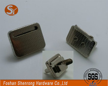 Good value cheap square embedded nickel rare earth magnet magnetic button magentic buckles for bags