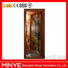 single pane aluminum frame side door inner door swing doors
