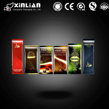 Custom printing stand up pouch coffee bag/square bottom tea bag with valve