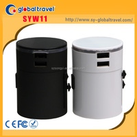 Top Selling Power Electric Usb Travel Power Adaptor 3000mA With Led Logo