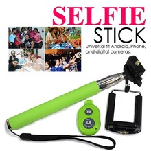 Mobile Bluetooth Selfie Stick Extendable Hand Monopod / Selfie Stick With Bluetooth Shutter Button
