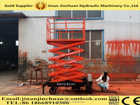 1.35~12m, 1.0 ton electric hydraulic motorcycle lift /manual motorcycle lift /used electric scissor lift