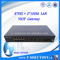 V-SOLUTION 8 FXS port VoIP adapter,Gateway VoIP ATA SIP box IAD3008