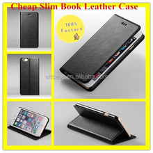 100% Factory Selling Cheap Phone Case for iPhone 6 , Leather Phone Case for iPhone 6 Book Style Case