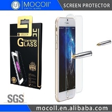 9H Anti-fingerprint Clear Tempered Glass Screen Protector for iphone 6 mobile screen protector