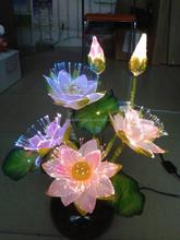 beautiful lighted christmas/party decorations light vase led fiber optic flower light