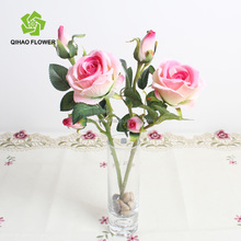 Factory direct sale importers artificial flowers single stem rose bud wholesale for home decor