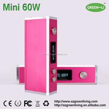 2015 latest e cig box mod Mini 60W box mod, rebuildable vaporizer pen,electronic cigarette