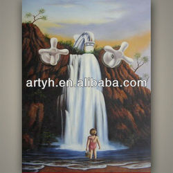 child under the waterfall oil painting on canvas for sale