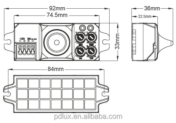 pdlux mini hf microwave motion sensor pd-mv1017md-c