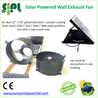 new product soalr wall exhaust fan with15 watt solar panel