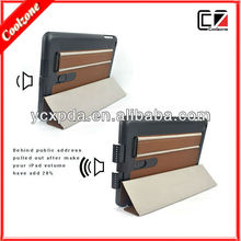 new design multi function book style leather case for iPad mini4