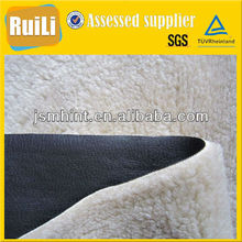 knit bonded fleece fabric sherpa fur bonding with suede