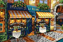 impressionist paris street scenes oil paintings by number