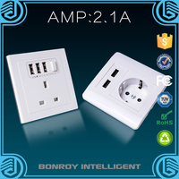 Fast shipping creative convenient world wall usb outlet suitable for all decoration