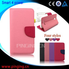 for Vodafone Smart 4 power case, wallet leather flip cover case for Vodafone Smart 4 power
