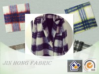 2015-2016 Hot Sale Plush/Long Hair Blue/Pink/Black/Caramel Plaid/check/grid Wool/polyester/acrylic Blend Fabric for clothing