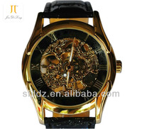 Hollow Mechanical Watches Genuine Leather High Quality Wrist Watch cheap watch phone