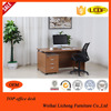 Ogee edge bent office desk/MDF office table with cabinet