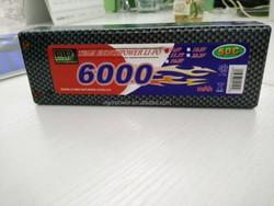 7.4 volt lipo battery 2S 6000mAh 2cell 50C for Traxxas Rustler VXL 1/10 1/8 Electric Truck buggy Car