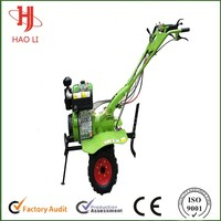 recoil and hand-operated rotary hoe walking tractor