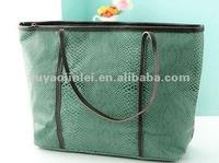 Green color ladies tote bag,Fashion design handbag for women,2013 hot gifts