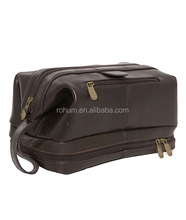 Fashion Men Leather Toiletry Bag