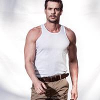 2015 men's 100% cotton modal slim vest
