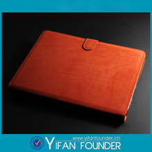 Hot selling stand leather case for ipad5, protective cover for ipad air
