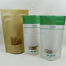 nuts / dried fruit / tea brown paper bagsealable brown paper bag