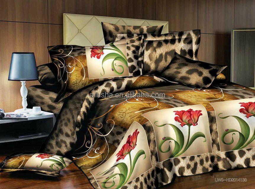 duba couvre lit 3d ville 4 pe as coton de haute qualit polyester personnalis frozen ensemble. Black Bedroom Furniture Sets. Home Design Ideas