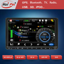 HuiFei Car Radio TV DVD with Retractable Screen support 3D UI 3G WiFi Virtual Disc PiP function
