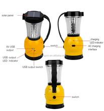 SUNERGY Handy solar power 24 LED camping lantern with flashlight