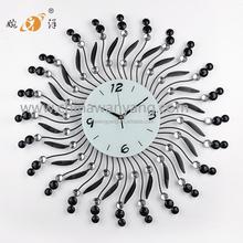 Round shape metal wall digital clock