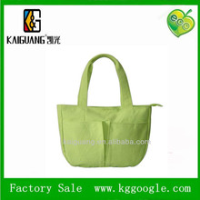 Green Canvas cotton Tote Bag for Shopping.