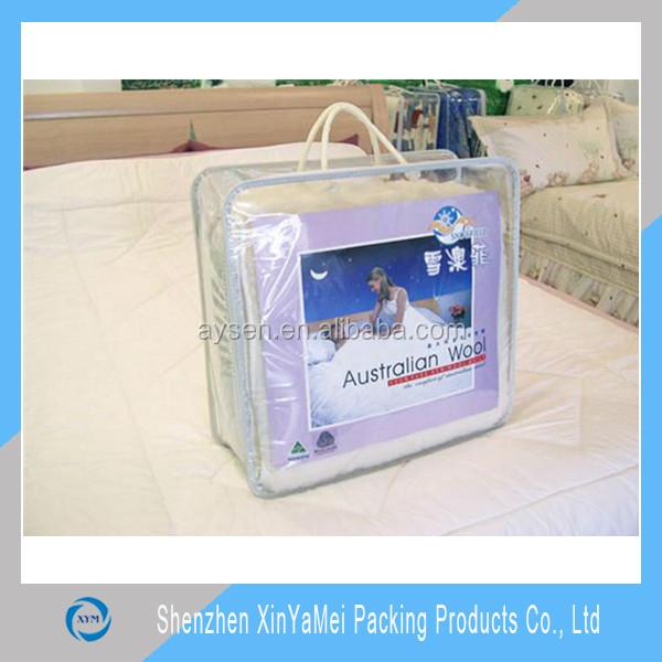 Pvc clear plastic pillow bag/pillow bag/zipper bag for pillow